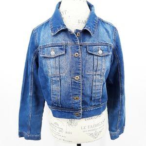 Per Se Jean Denim Jacket with Diamond Buttons Lg
